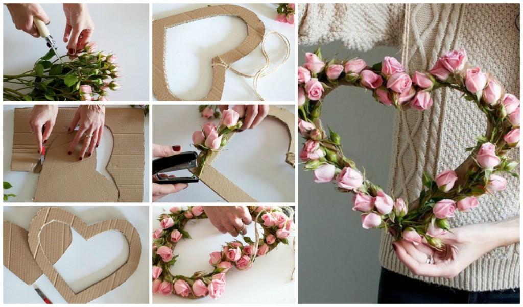 сердце цветы